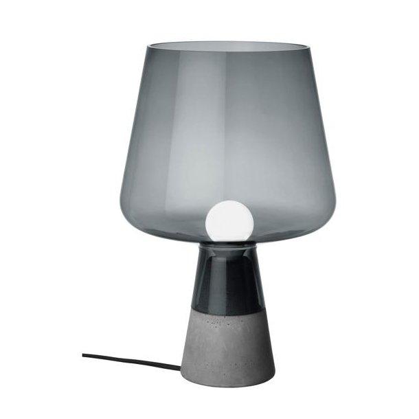 iittala Leimu Bordlampe, mundblæst glas og beton - stor grå