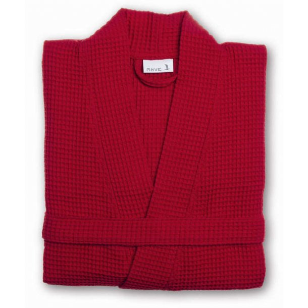 Möve Piquée Kimono, 100% bomuld, vaffelpiquée, Ruby, S-XL