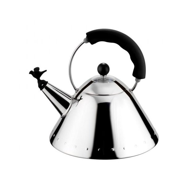 Alessi Bird Whistle Kedel 9093 i rustfri stål, 2 liter - sort