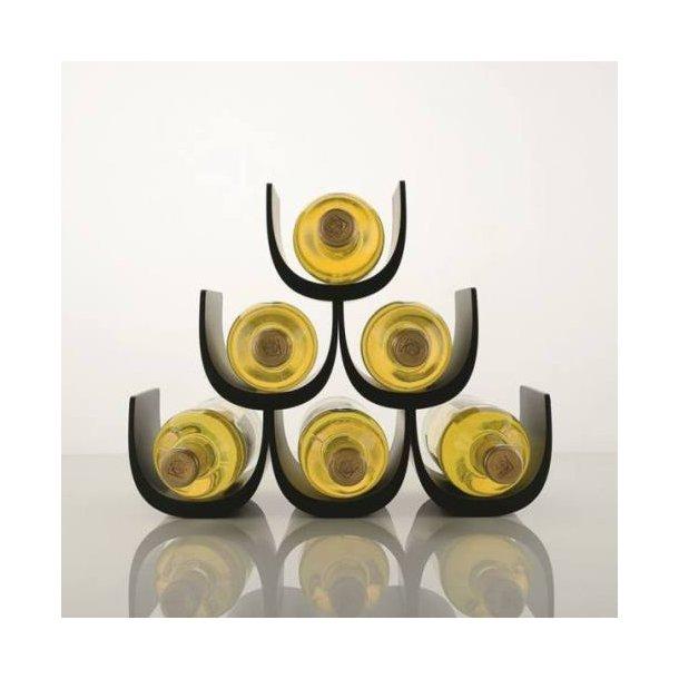 Alessi Vinreol Noe GIA13 til 6 flasker - sort