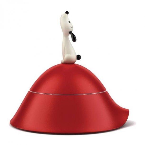 Alessi Lulà Hundeskål, luxus hundeskål med låg, til lille hund - rød