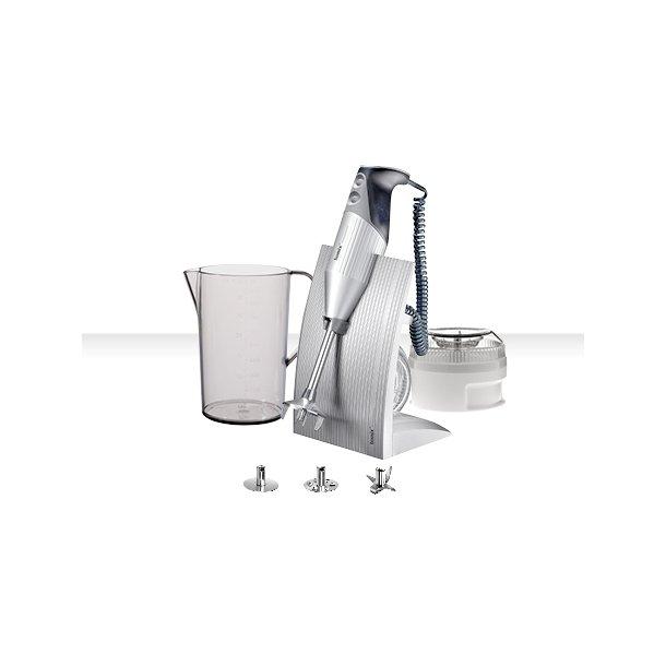 Bamix SwissLine 200 Watt stavblender med tilbehør - silver / sort
