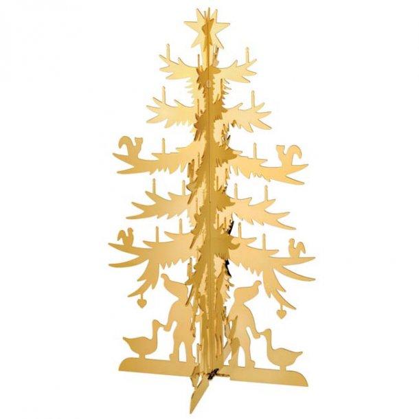 H.C. Andersen Papirklip Grantræ, stort forgyldt
