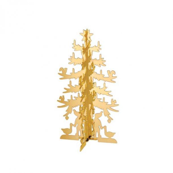 H.C. Andersen Papirklip Grantræ, lille forgyldt