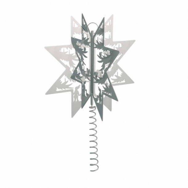 H.C. Andersen Papirklip Topstjerne forsølvet H 19cm