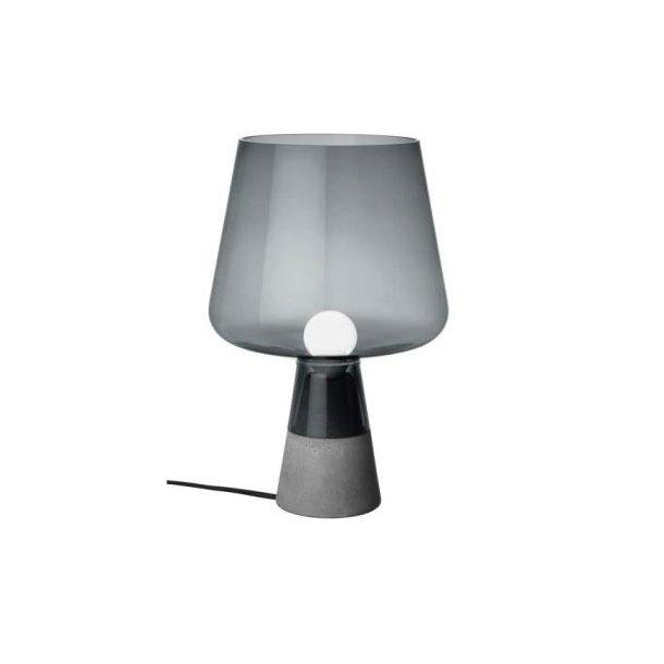 iittala Leimu Bordlampe, mundblæst glas og beton - lille grå