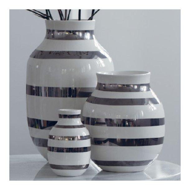 Kähler Omaggio Vase sølv - 12,5 cm - Limited Edition