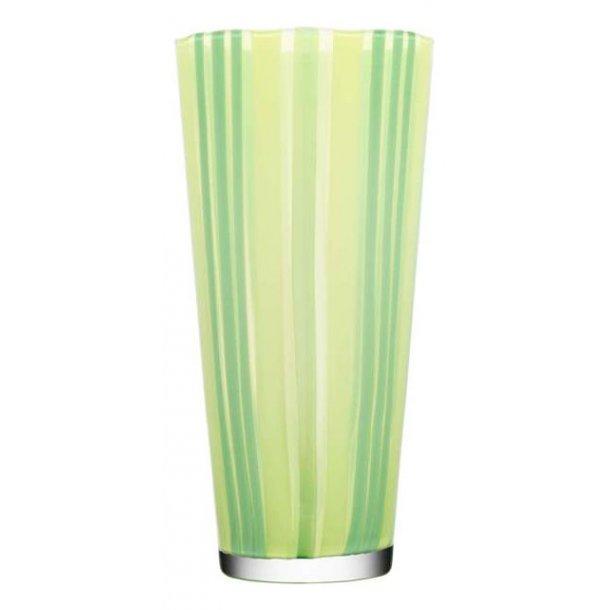 Kosta Boda Cabana vase 340 mm i Orrefors krystal - lime