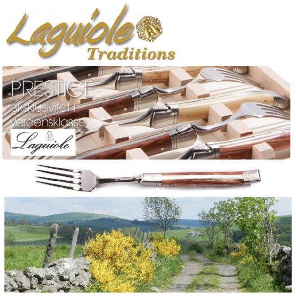 Laguiole Prestige Gaffel, 6 stk i trææske - 7 varianter