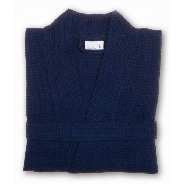 Möve Piquée Kimono, 100% bomuld, vaffelpiquée, Deep Sea, S-XL