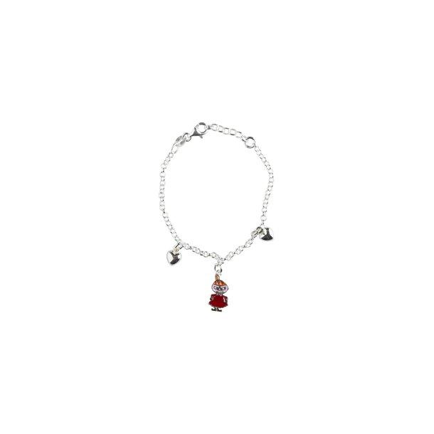 Mumi armbånd Lille My, sølv og emallie