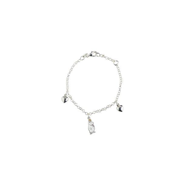 Mumi armbånd Snorkfrøken, sølv og emallie