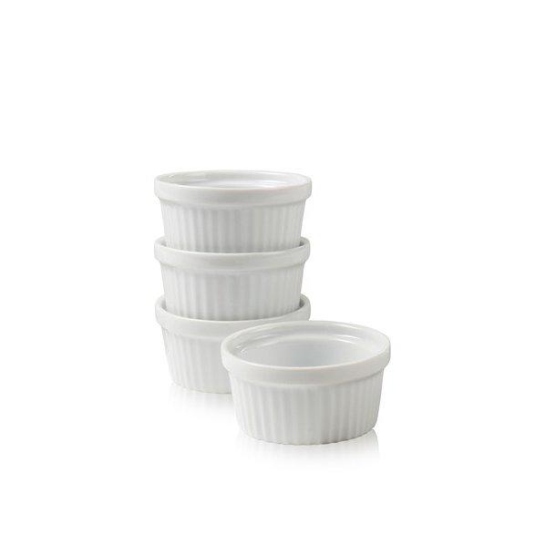 Nordic Sense Ramekin i porcelæn, 4 stk - hvid