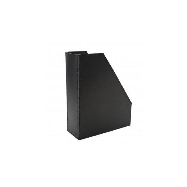 Ørskov Organizer / Magasinholder - sort læder B