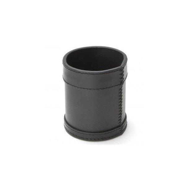 Ørskov Penneholder / Blyantsholder - sort læder sorte syninger