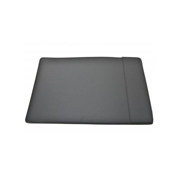 Ørskov Skriveunderlag S - enkelt - sort læder sorte syninger