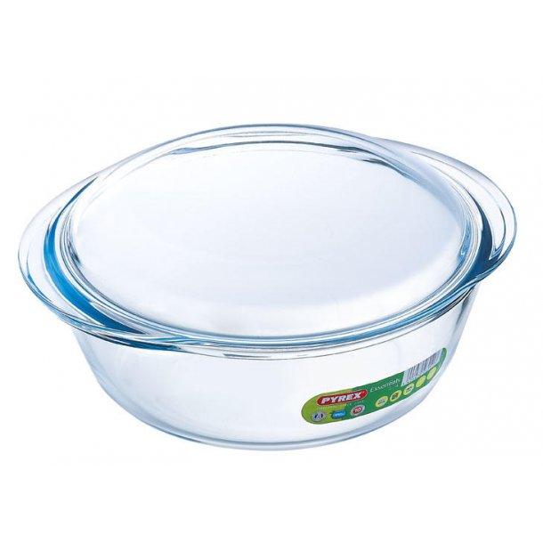 Pyrex Essentials Gryde rund med låg