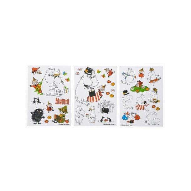 RättStart Mumi Wall Stickers - A4 størrelse