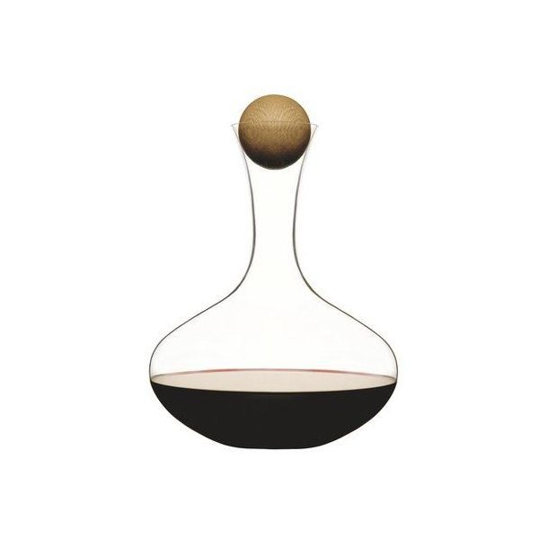 Sagaform Oval Oak vinkaraffel i glas og eg - 2 liter