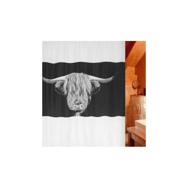 Spirella Wooly Badeforhæng 180 x 200 cm - Limited Edition