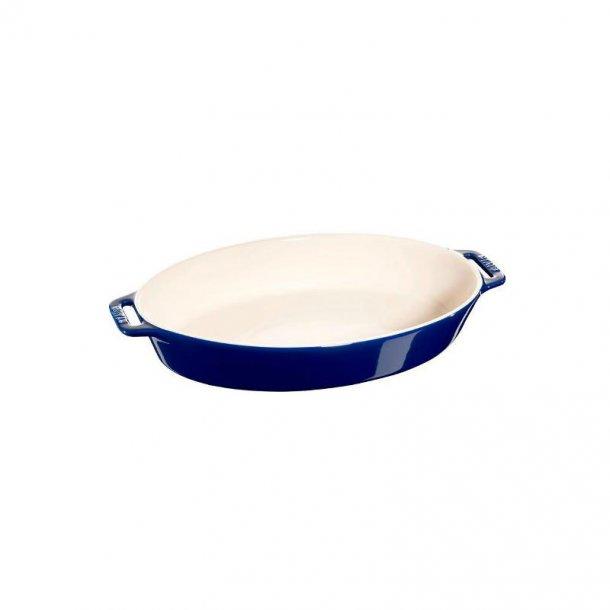 Staub Fad i keramik ovalt 29 cm - flere farver