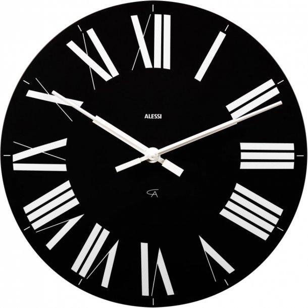 Alessi Firenze vægur/køkkenur i ABS, sort Ø36cm