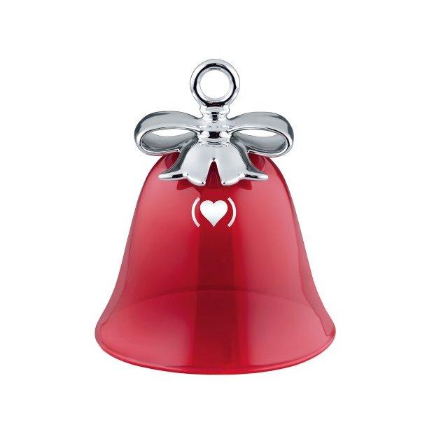 Alessi RED dressed for Xmas Klokke i glas, rød