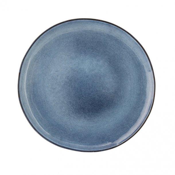 Bloomingville Sandrine Tallerken 28,5cm, stentøj - blå