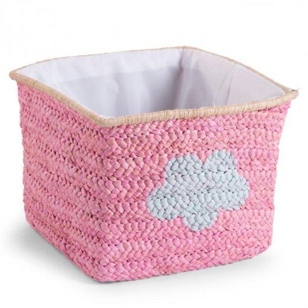 Childhome håndflettet opbevaringskurv i majsflet - pink