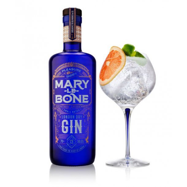 Mary-Le-Bone Gin, Handcrafted small batch, 50,2% vol. 70cl