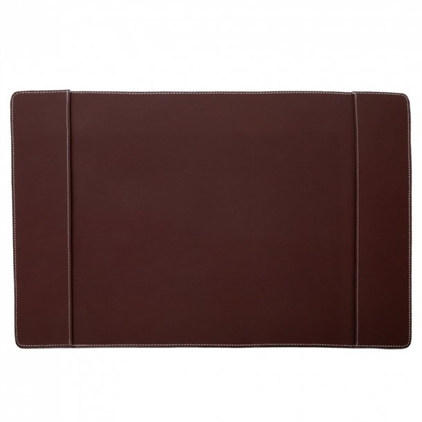 Ørskov Skriveunderlag L - dobbelt - Chokoladebrunt læder