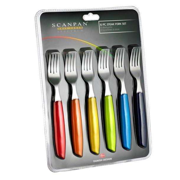 Scanpan Spectrum Steakgafler multicolor - 6 stk