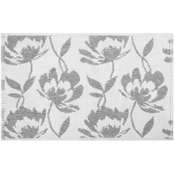 Spirella Blossom bademåtte, Grå, 100% Bomuld 50x80cm