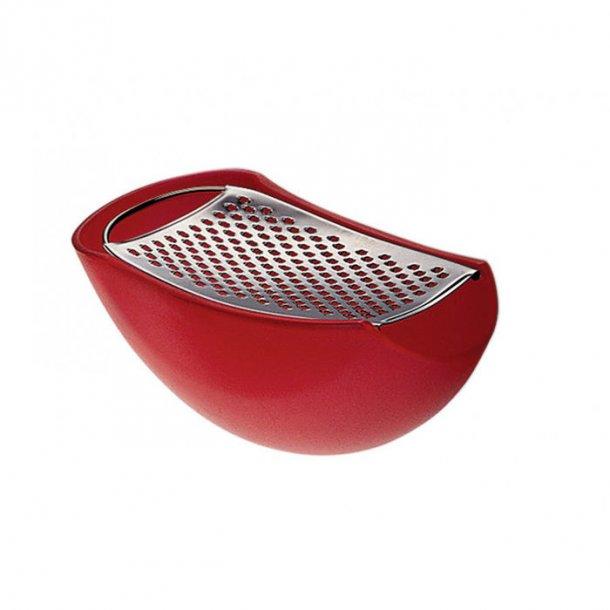 Alessi Parmenide, parmesan rivejern med opsamler, rød