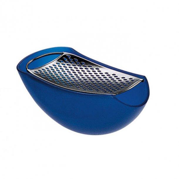 Alessi Parmenide, parmesan rivejern med opsamler, blå