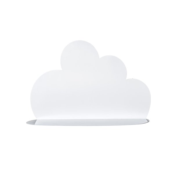Bloomingville Cloud Shelf, metal 60cm - hvid