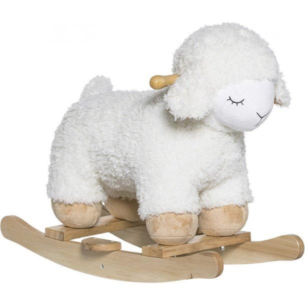 Bloomingville Rocking Sheep, træ og polyfiber