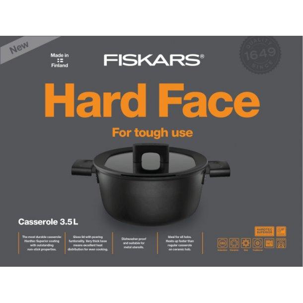 Fiskars Hard Face Gryde 24cm - 5 liter