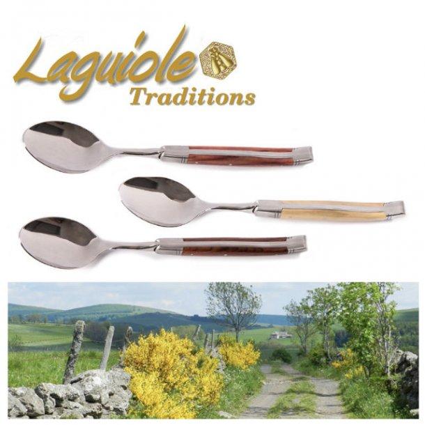 Laguiole Prestige Middagsske, 6 stk i trææske - 7 varianter