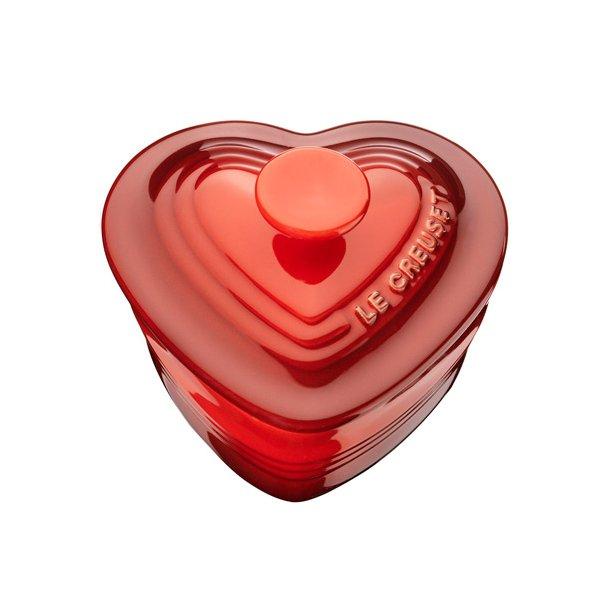 Le Creuset hjerteramekin med låg, 0,25 L / 11 cm