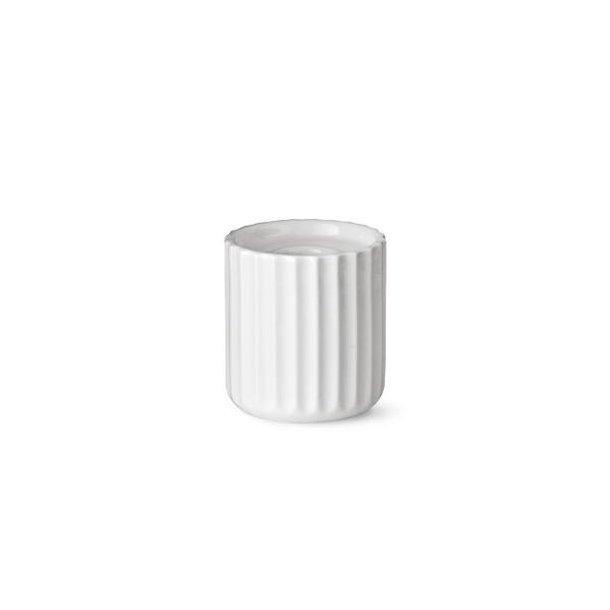 Lyngby Lysestage, porcelæn, hvid 6,5cm