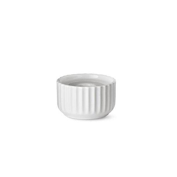 Lyngby Lysestage, porcelæn, hvid 8,5cm
