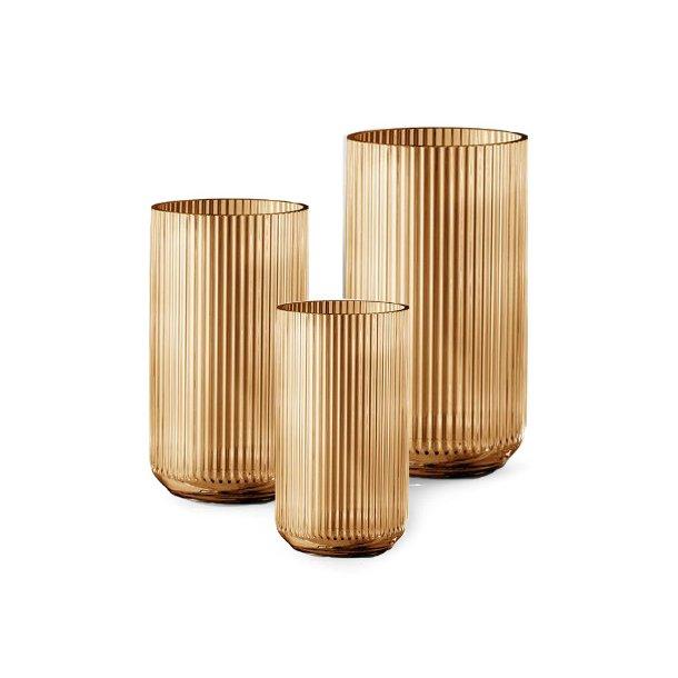 Lyngby Porcelæn Lyngbyvasen, glas, amber - flere størrelser