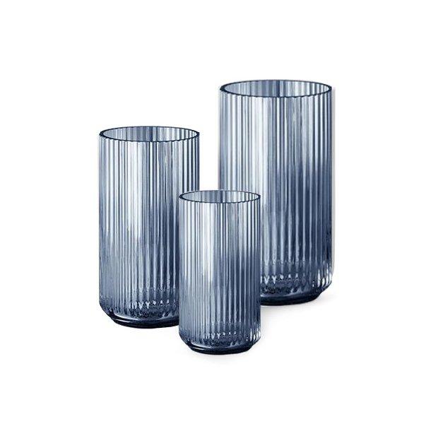 Lyngby Porcelæn Lyngbyvasen, glas, blå - flere størrelser