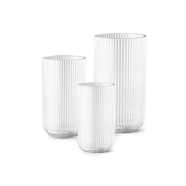 Lyngby Porcelæn Lyngbyvasen, glas, klar - flere størrelser