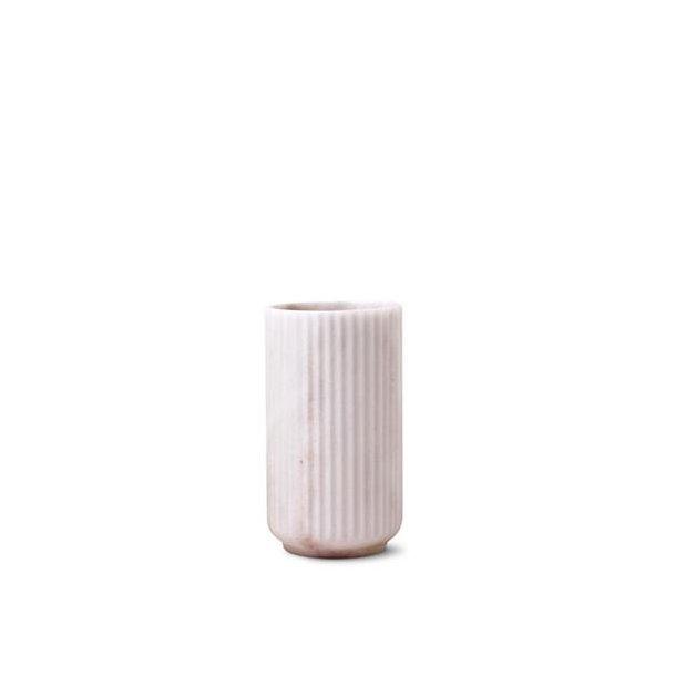 Lyngby Porcelæn Lyngbyvasen, marmor, hvid - 20cm