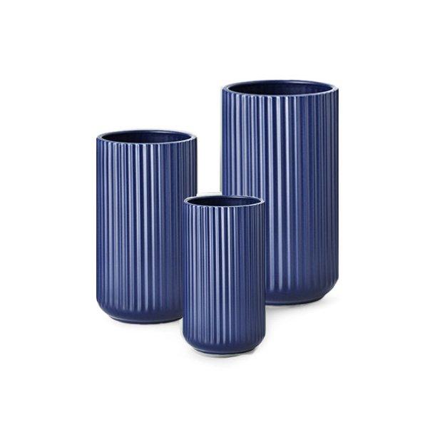 Lyngby Porcelæn Lyngbyvasen, porcelæn, mat blå - mange størrelser