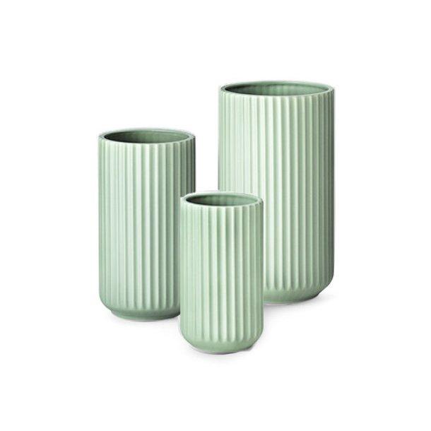 Lyngby Porcelæn Lyngbyvasen, porcelæn, mat grøn - mange størrelser