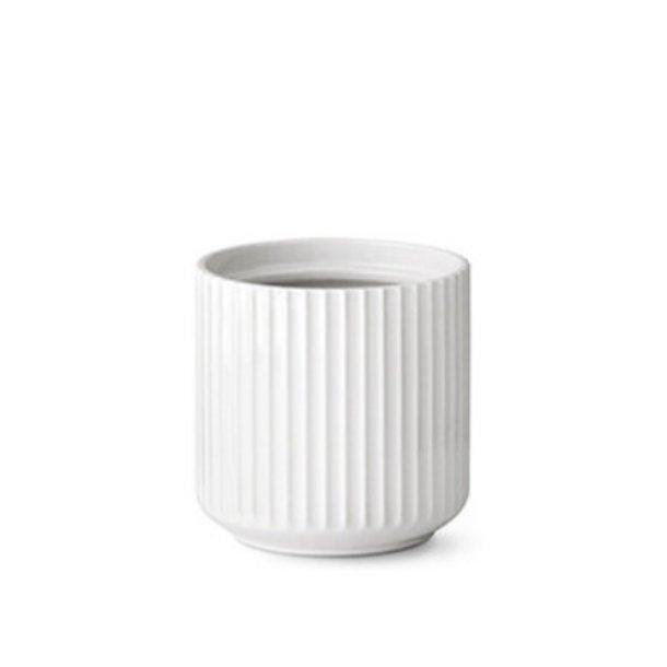 Lyngby Porcelæn Urtepotte, porcelæn, hvid - 14cm