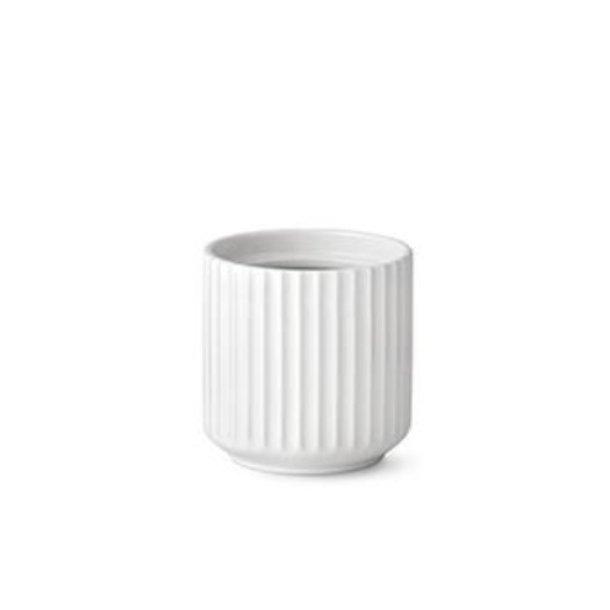 Lyngby Porcelæn Urtepotte, porcelæn, hvid - 11,5cm